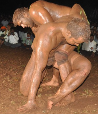 professional wrestling in the mud