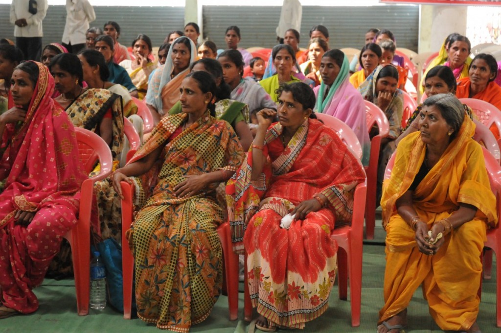 A convention of farm widows or women farmers whose husbands have committed suicide, in Yavatmal district of Maharashtra. Nationally, the number of 'farm widows' since 1995 could be around a quarter of a million or more