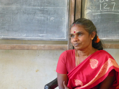 S. Vijaylaxmi: a wonderful teacher, severely underpaid, heavily overworked, but dedicated to her flock.