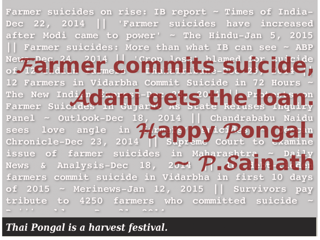 Farmer commits suicide, Adani gets the loan