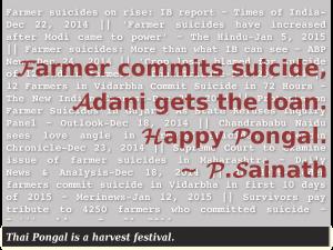 Farmer commits suicide, Adani gets the loan