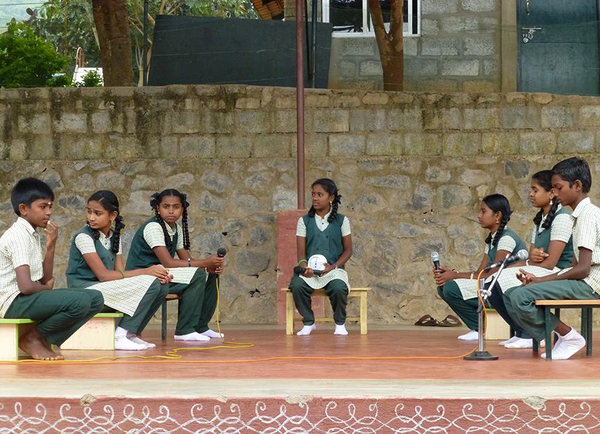 students of vidya vanam debate