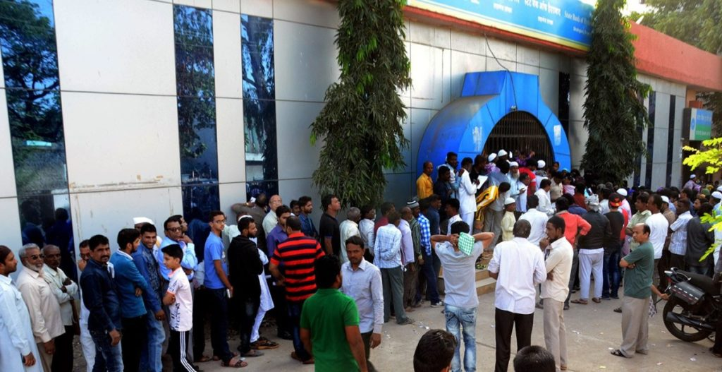 At Shaganj in the walled city of Aurangabad, the queues are long and tempers s